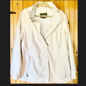 Eddie Bauer white rain jacket XXL